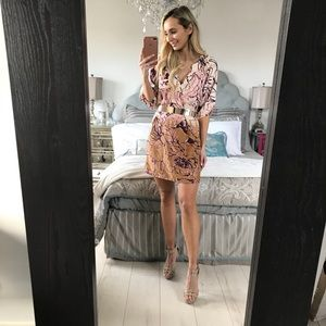 Multi Color Loose Mini Spring Dress